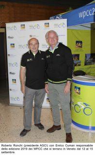 Roberto Ronchi presidente AGCI e Enrico Cuman responsabile per i Mondiali 2019