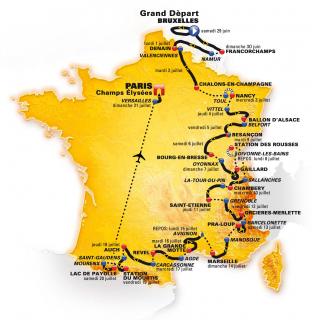 Il percorso del Tour 2019
